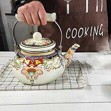 Teekannen 2,5 Liter Emaille Teekanne Wasserkocher