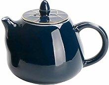 Teekannen 200 Ml Stil Ji Blau Glasur Gold Linie