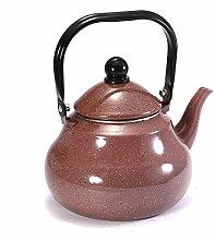 Teekannen Kaffee-Farbiger Punkt Birnenförmiger