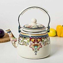 Teekannen Kaffeeservice Emaille Wasserkocher groß
