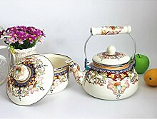 Teekannen & Kaffeeservierer, dick, flach, 2,4 l,