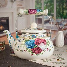 Teekannen Kaffeeservierer Emaille Wasserkocher