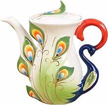 Teekannen Kreative Keramik Teekanne Pfau Porzellan