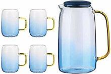 Teekaraffen Glas Kaltwasserflasche Glas 1550Ml