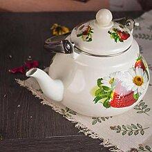 Teekessel aus Emaille, Teekanne, Gesundheit,