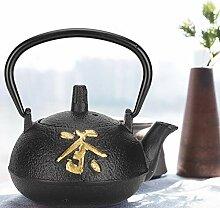 Teekessel, Eisen-Teekanne unbeschichtet mit Sieb