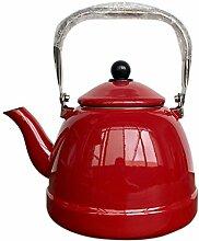 Teekessel Emaille mit Griff 3 Liter Teekanne für