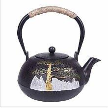 Teekessel Gusseisen Teekanne mit Teesieb für