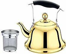 Teekessel mit Teesieb aus Edelstahl mit