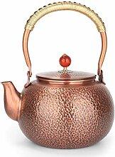 Teekessel/Teekessel Herd Hammered Copper Teekessel