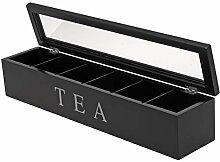 Teekiste - Teebox - Teedose - Farbe: schwarz -