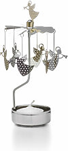 Teelicht-Karussell Pluto gold, Designer Hans