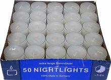 Teelicht Nightlights 50er Box transparente Hülle