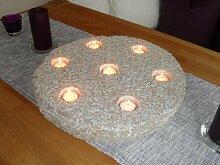 Teelichthalter aus echtem Granit 45 cm Durchmesser