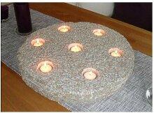 Teelichthalter aus echtem grauem Granit 45 cm