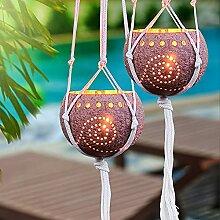 Teelichthalter aus Kokosnussschale, 2 Stück,