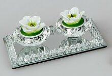 Teelichthalter BRILLIANT für 2 Kerzen auf