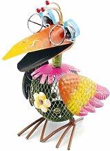 Teelichthalter bunter Vogel, Windlicht,