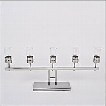 Teelichthalter Cambridge Edelstahl 34x74x10cm silber Design Luxus Dekoration