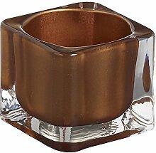 Teelichthalter eckig 40/55 mm (1 Stück) - kupfer
