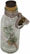 Teelichthalter Flasche mit Baum