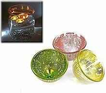 Teelichthalter Glas - Glasschwimmer Teelicht für Teich oder Hausdekoration
