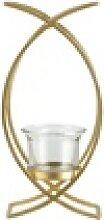Teelichthalter ¦ gold ¦ Metall, Glas