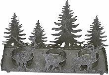 Teelichthalter Hirsch mit Bäume