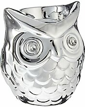 Teelichthalter Kerzenhalter EULE silber