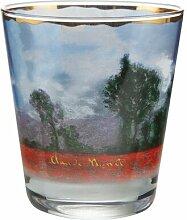 Teelichthalter Mohnfeld aus Glas