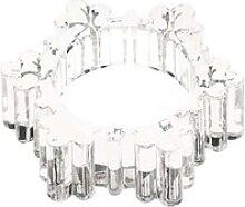 Teelichthalter Schneeflocke  Glas