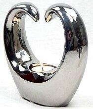 Teelichthalter silber modern Objekt Heart Dekoration Herz