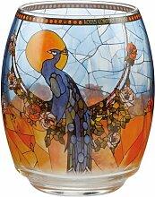 Teelichthalter Tiffany Peacock aus Glas Goebel