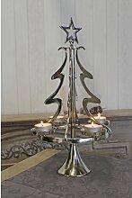 Teelichthalter Weihnachtsbaum aus Metall Die