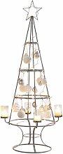 Teelichthalter Weihnachtsbaum, Metall/Glas H: 150