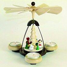 Teelichtpyramide dunkellbraun & Tüllen natur