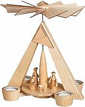 Teelichtpyramide – natur Christi Geburt, natur