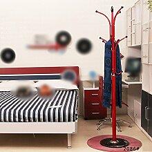 Teenager Hosen Hosen / Holzboden Kleiderbügel / Schlafzimmer Cartoon Kreative Mode Kleidung Rack ( Farbe : Rot )