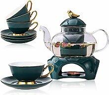 Teeservice Set Classic-Stil Blühende Tee Set