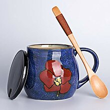 Teesets Teetassen Keramikbecher Becher mit Deckel