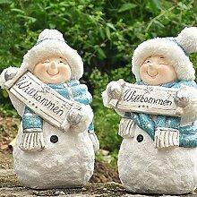 TEET Garten Statue Weiß Ornamente Weihnachts FRP