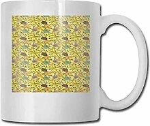 Teetasse aus Porzellan, mit Zitat für Glück in