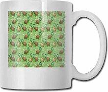 Teetasse aus Porzellan, schlafender Bär,