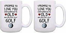 Teetasse / Kaffeetasse / Golfbecher-Set I Promise