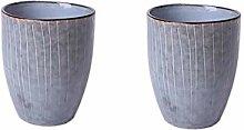 Teetasse Keramik Milchkännchen Retro Streifen