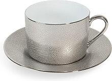 Teetasse mit Untertasse ÉCAILLE SAUVAGE aus