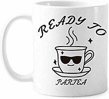 Teetasse Trinkbrille Partybecher Keramik Kaffee