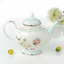 Teetassen Keramik Teekanne Nordic Flower Tee
