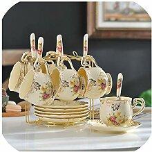 Teetassen-Set Elfenbein Keramik Kaffeetassen Set