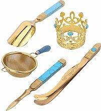 Teezeremonie-Werkzeuge, Teenadel und Teelöffel